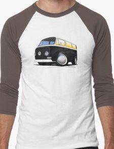 VW Bay Window Camper Van Black Men's Baseball ¾ T-Shirt