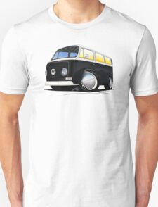 VW Bay Window Camper Van Black T-Shirt