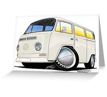 VW Bay Window Camper Van White Greeting Card