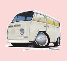 VW Bay Window Camper Van White One Piece - Long Sleeve