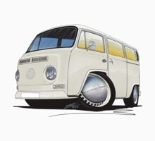 VW Bay Window Camper Van White by Richard Yeomans
