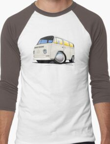 VW Bay Window Camper Van White Men's Baseball ¾ T-Shirt