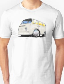 VW Bay Window Camper Van White Unisex T-Shirt