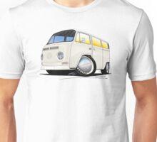 VW Bay Window Camper Van White Unisex T-Shirt