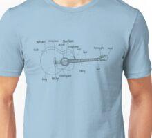 Guitar Anatomy Unisex T-Shirt