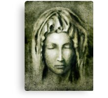 Portrait of Virgin Mary  Canvas Print