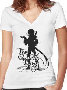 The Goblin King Women's Fitted V-Neck T-Shirt