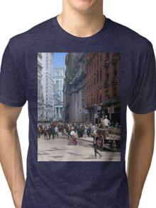Curb Market in NYC, ca 1900 Tri-blend T-Shirt