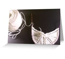 Knitting 001 Greeting Card
