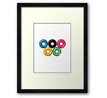 Doughnut rings Framed Print