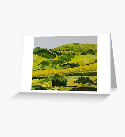 Vineyard in the Hills Greeting Card