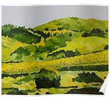 Vineyard in the Hills Poster