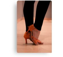 Woman Dance shoes Canvas Print