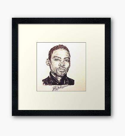 Chris Rock Framed Print