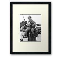 """ Riding shotgun "" Framed Print"