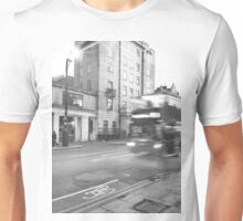 Black and White London Bus  Unisex T-Shirt