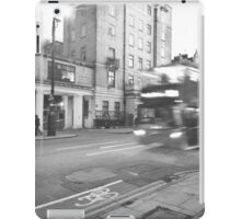 Black and White London Bus  iPad Case/Skin