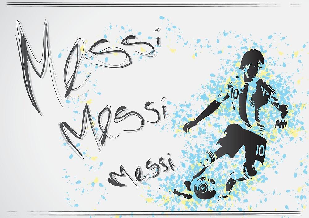 Lionel Messi Poster by Sean Biggs