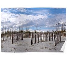 Beach Scene At Pawley Island Poster