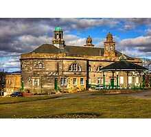 Town Hall and Glebe Park Bandstand Photographic Print