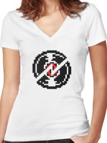 dave strider | broken record  Women's Fitted V-Neck T-Shirt
