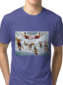 Gay Swingers Guarantee To Make Your Day A Pleasure Tri-blend T-Shirt