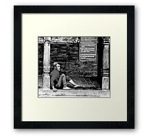 TIRED OF LIFE AND LOOKING FOR A PLACE TO REST Framed Print