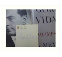 Gore Vidal Remembered 1925-2012 Art Print