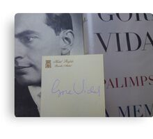 Gore Vidal Remembered 1925-2012 Canvas Print