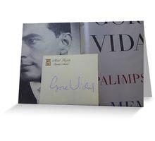 Gore Vidal Remembered 1925-2012 Greeting Card