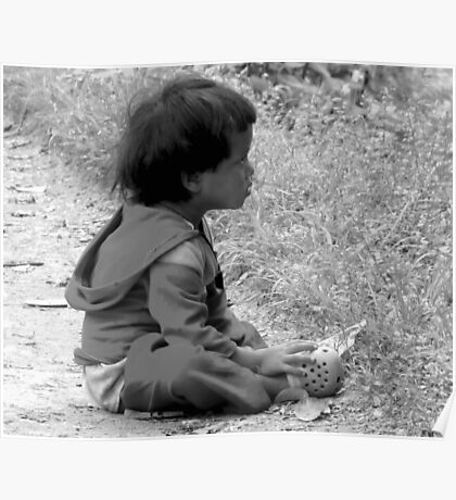 BLACK AND WHITE-SITTING ON THE SIDE OF THE ROAD AND GOING NOWHERE! Poster