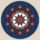 Abstract Roses Mandala 4 by bloomingvine