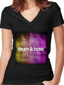 Drum & Bass (color harmonies)  Women's Fitted V-Neck T-Shirt