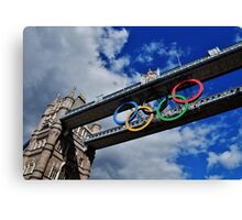 Olympic Rings Canvas Print
