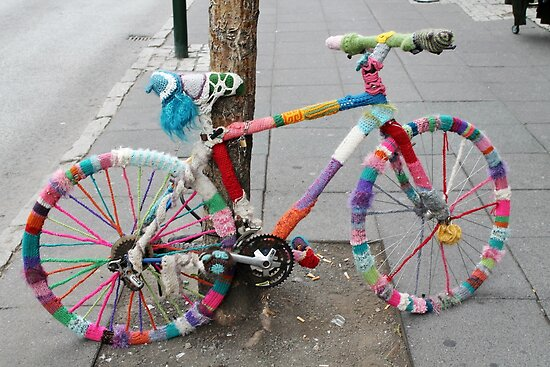 knitted bicycle by arthousecards