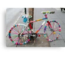 knitted bicycle Canvas Print