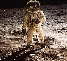 TV Astronaut moon walk by monsterplanet