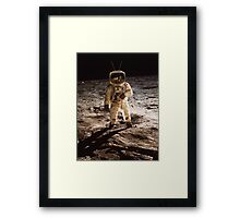 TV Astronaut moon walk Framed Print