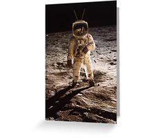 TV Astronaut moon walk Greeting Card