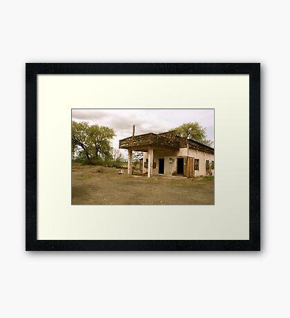 Old Yakima Gas Station Framed Print
