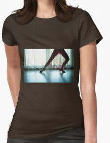 Woman legs in dancing pose Womens Fitted T-Shirt