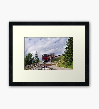 Train Ride To The Clouds Framed Print