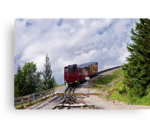 Train Ride To The Clouds Canvas Print