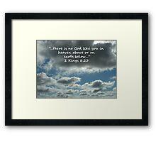 """1 Kings 8:23""  by Carter L. Shepard Framed Print"