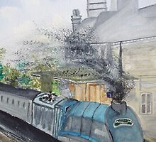 Bittern Through Chertsey by Carole Robins