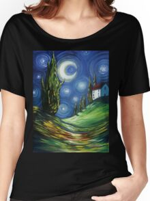 The Dreamers Night Sky Women's Relaxed Fit T-Shirt