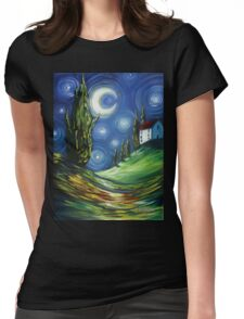 The Dreamers Night Sky Womens Fitted T-Shirt
