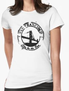 San Francisco - City By The Bay - Grunge Vintage Retro T-Shirt Womens Fitted T-Shirt