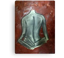 The woman in brown... Canvas Print