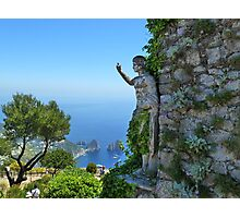 A view from the island of Capri Italy Photographic Print